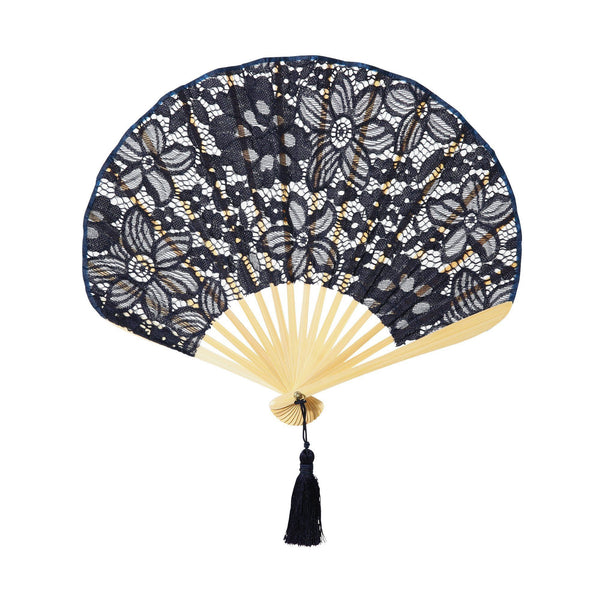 LACE FLOWER FOLDING FAN NV