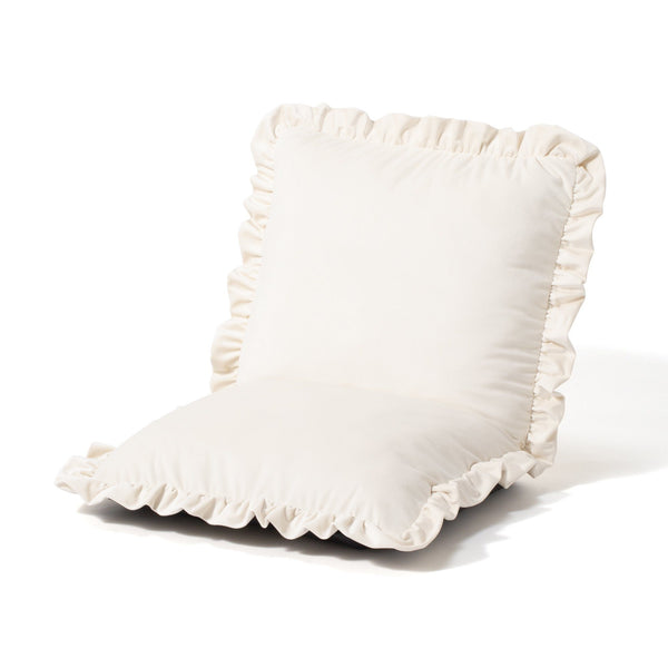 CALIN FLOOR CHAIR White (W570 × D545 ~ 920 × H150 ~ 490)