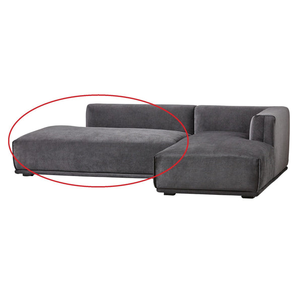 MEHNE Sofa Right Black