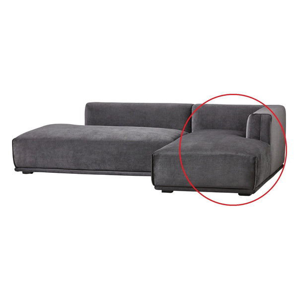 MEHNE Couch Right Black