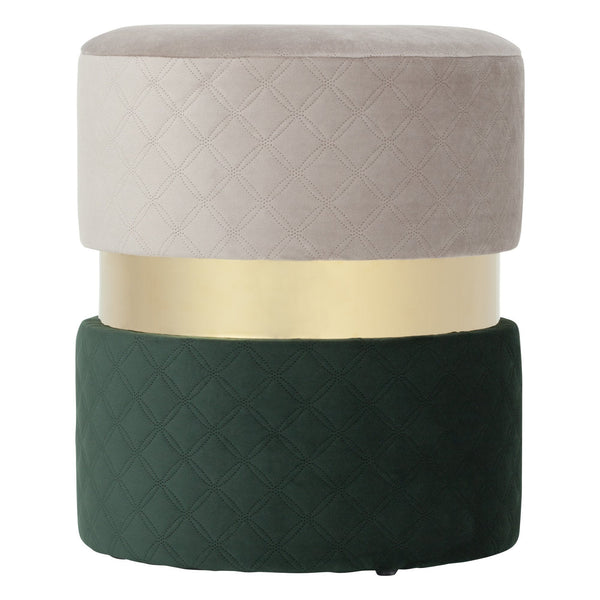 GEMME STOOL GRAY X GREEN ( W350 × D350 × H400)