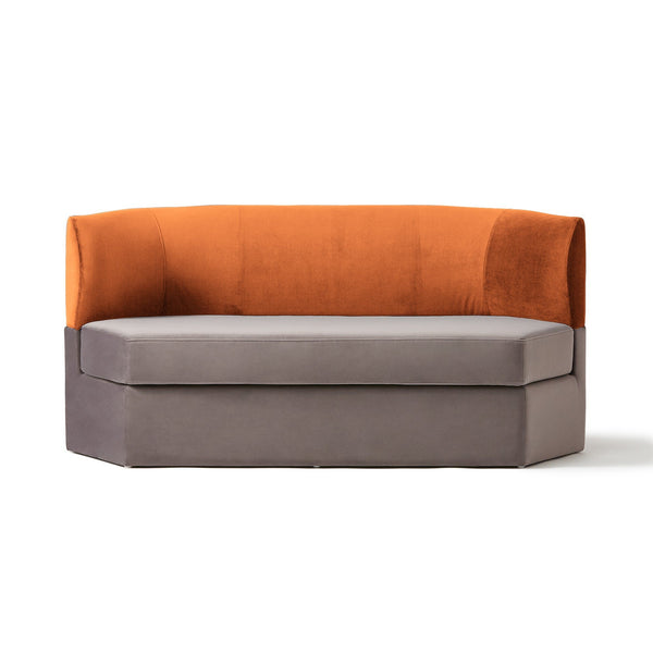 GRUPA SOFA 2S ORANGE X GRAY