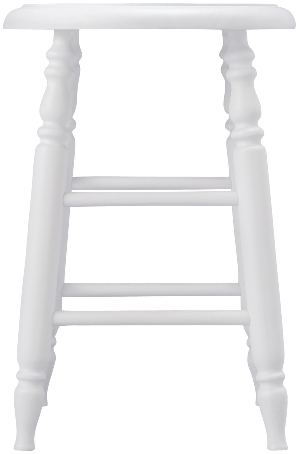 PRADO STOOL LOW WHITE (W310 × D310 × H450)