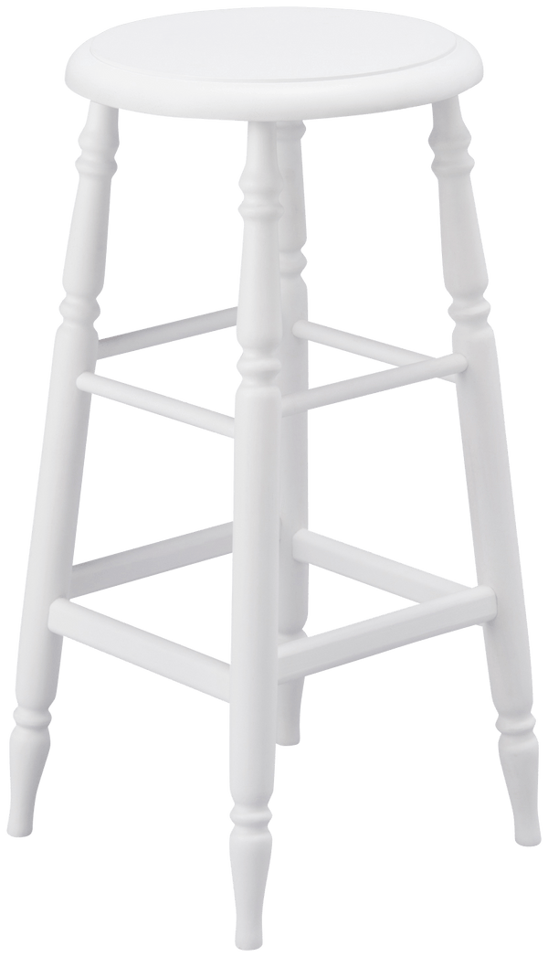 PRADO STOOL HIGH WHITE (W310 × D310 × H630)