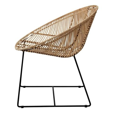 KAPAL CHAIR NATURAL X BLACK