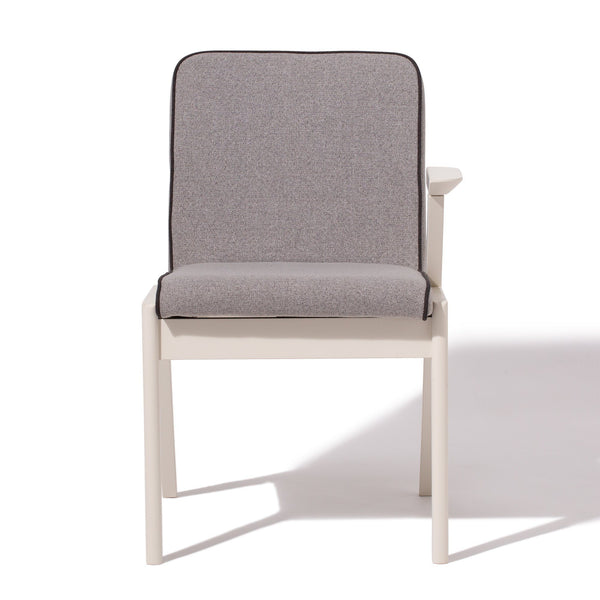 ELEVER CHAIR ARM L WHITE X GRAY (W490×D545×H740)