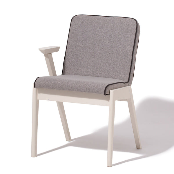 ELEVER CHAIR ARM R WHITE X GRAY (W490×D545×H740)