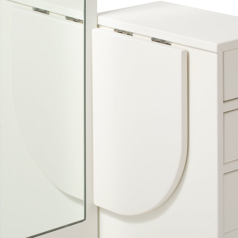 LANA STYLE MIRROR DRESSER White x Natural