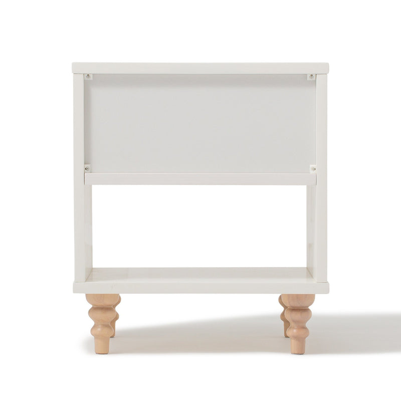 LANA NIGHT TABLE White x Natural (W417 × D371 × H466)