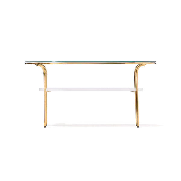 LEGATO COFFEETABLE Small Gold x Marble (W750 x D450 x H370)