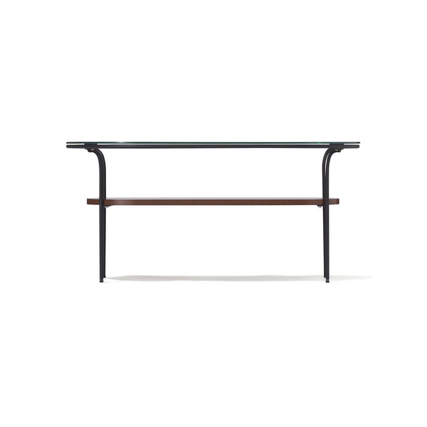 LEGATO COFFEE TABLE Small Black x Brown (W750 x D450 x H370)
