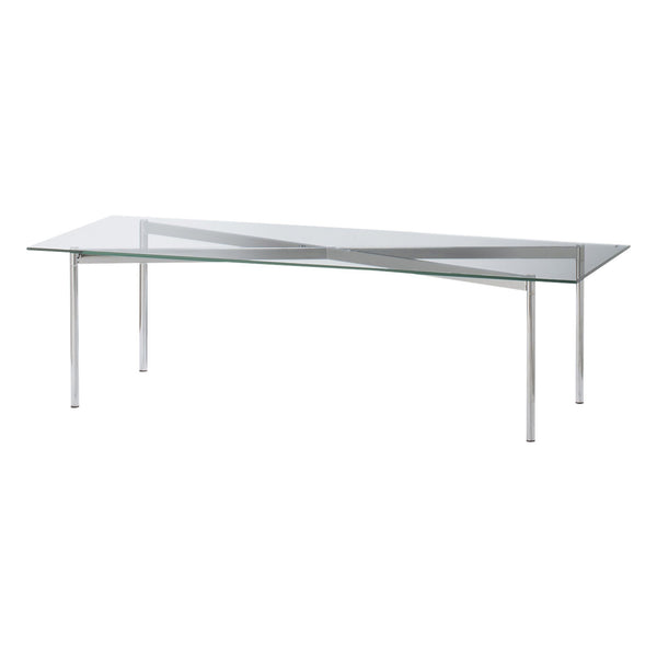 VASO COFFEE TABLE 1200 CLEAR X CHROME