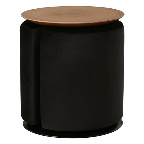 TUBO SIDE TABLE & STOOL BLACK