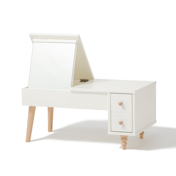 LANA DRESSER TABLE White X Natural (W801 × D471 × H382 - 735)