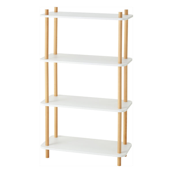 WOOD POLE SHELF 4 WHITE X NATURAL