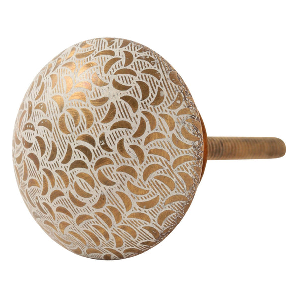 KNOB-17 IRON LEAF GOLD