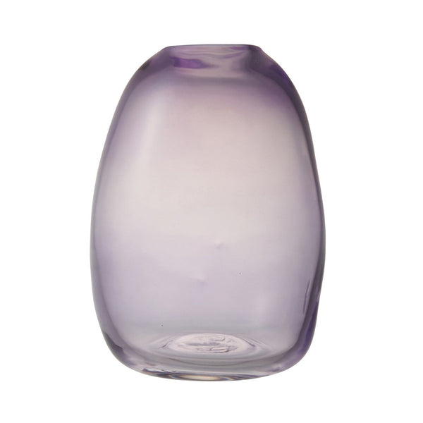 RIPPLE GLASS VASE Medium Purple