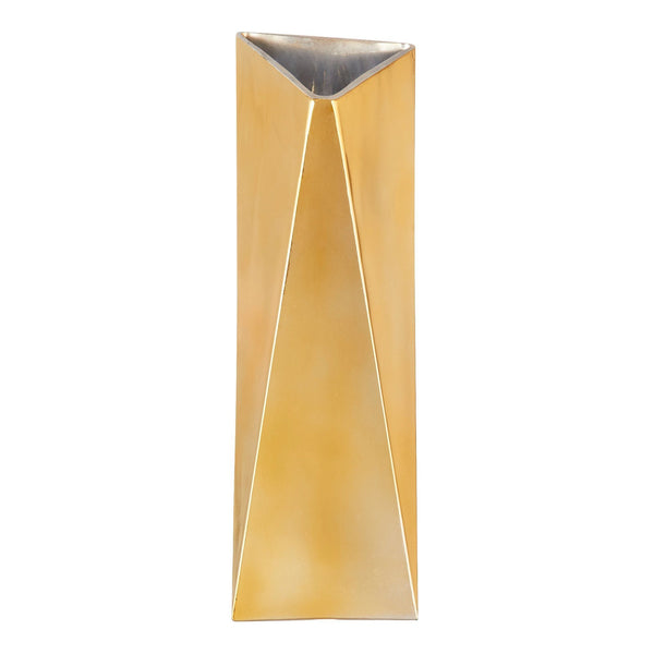 SHARP FLOWER VASE Large Gold