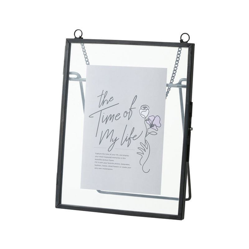 METAL GLASS FRAME Black