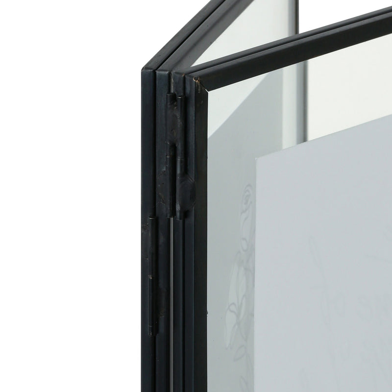 METAL GLASS FRAME 2WINDOWS Black
