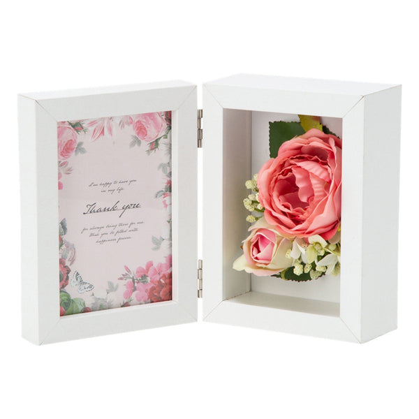 FLOWER PHOTO FRAME 2 PINK