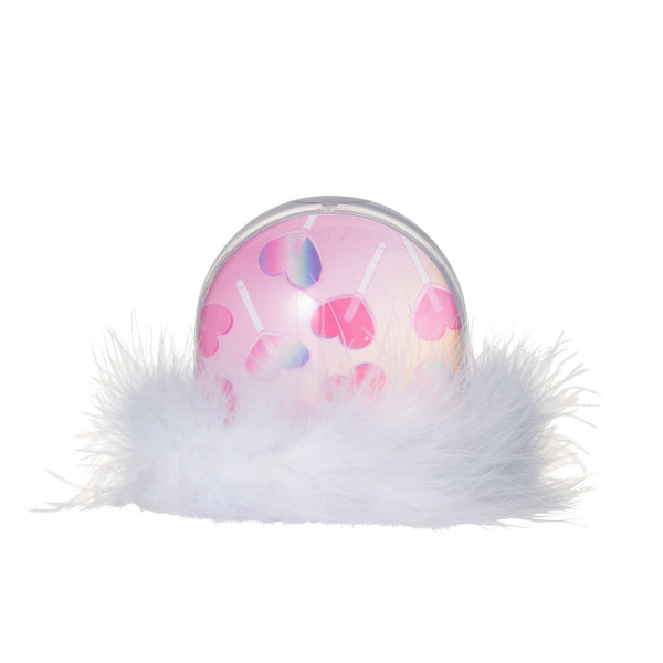 WATER & GLITTER FRAME FUR White