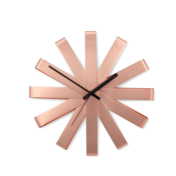 FLEURI Wall Clock M PINK GOLD