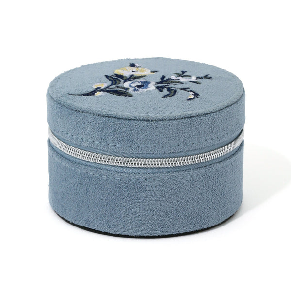 EMBROIDERY TRAVEL JEWELRY BOX S BL