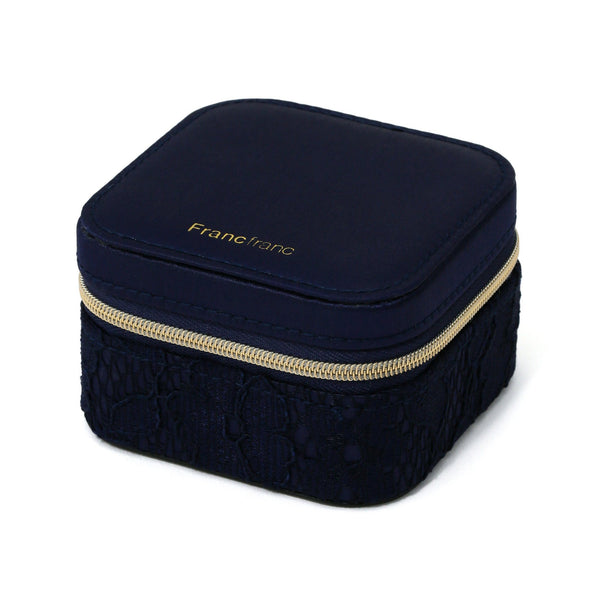 LACE TRAVEL JEWELRY BOX  Navy