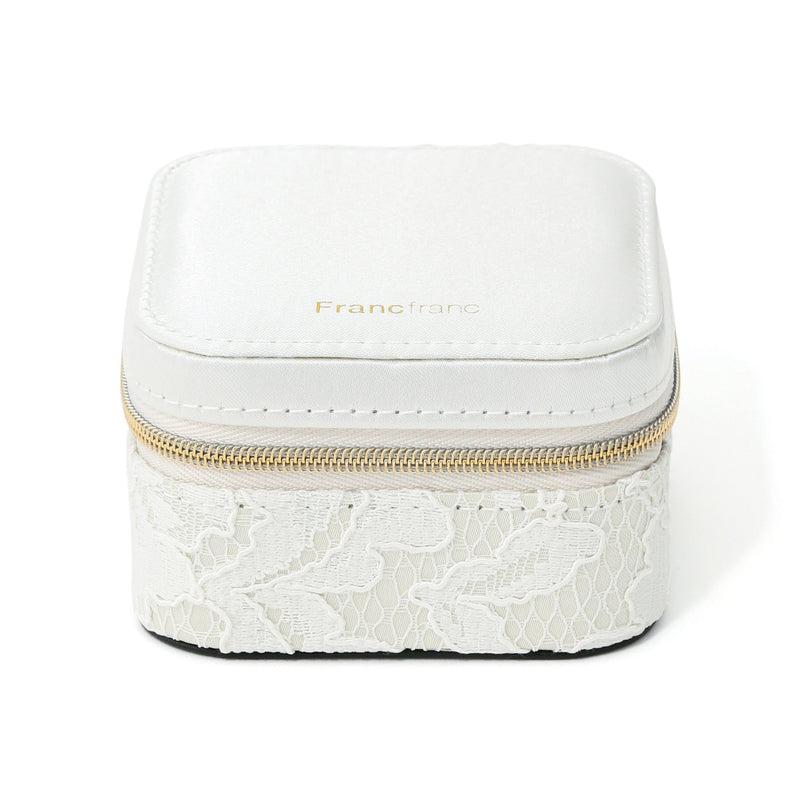 LACE TRAVEL JEWELRY BOX  Ivory