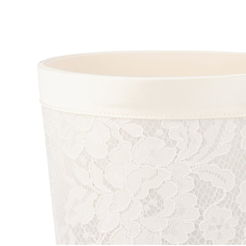 LACE DUST BOX Small Ivory