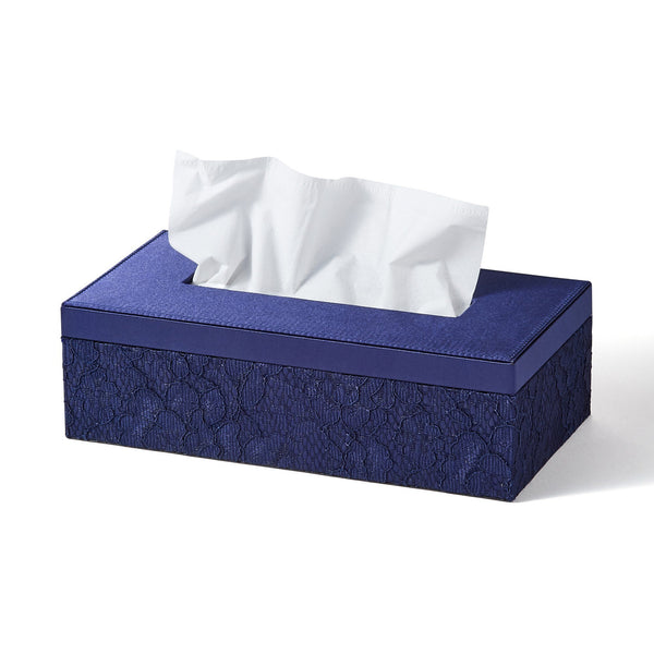 LACE TISSUE BOX Navy