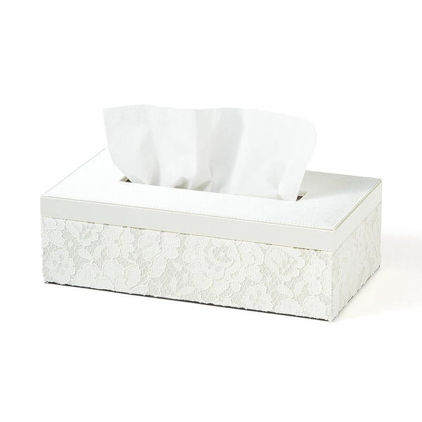 LACE TISSUE BOX Ivory