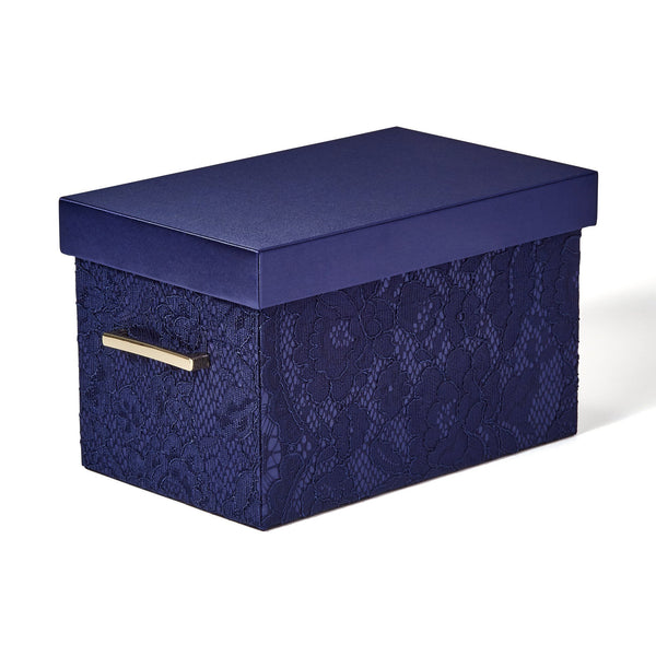 LACE BOX Small Navy