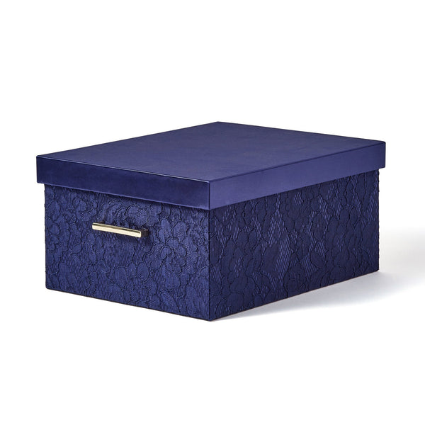 LACE BOX Large Navy