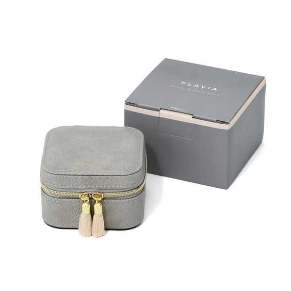 FLAVIA TRAVEL JEWELRY BOX Gray