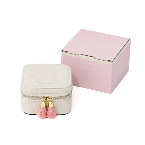 FLAVIA TRAVEL JEWELRY BOX Ivory