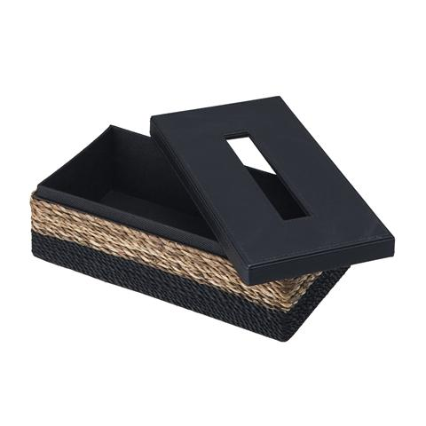 DUO TISSUE BOX BLACK