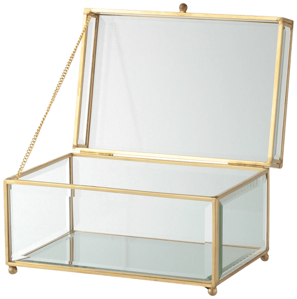 LAMULE Iron Glass Box Square Large
