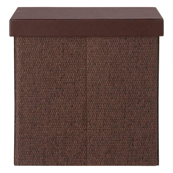 FABRIC FOLDING BOX MAGAZINE BROWN
