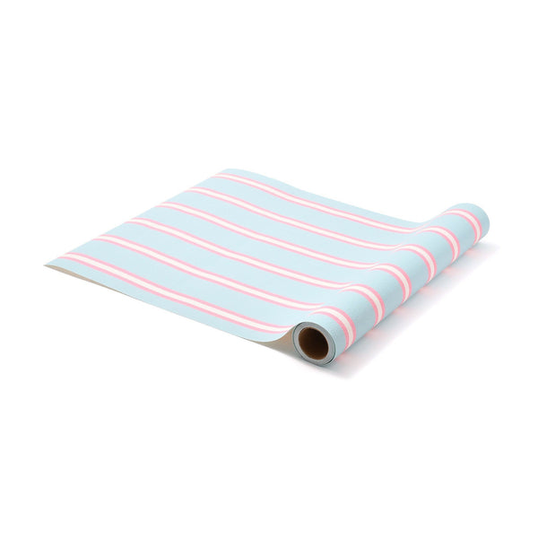REMOVABLEWALLPAPER STRIPEL Blue X Pink