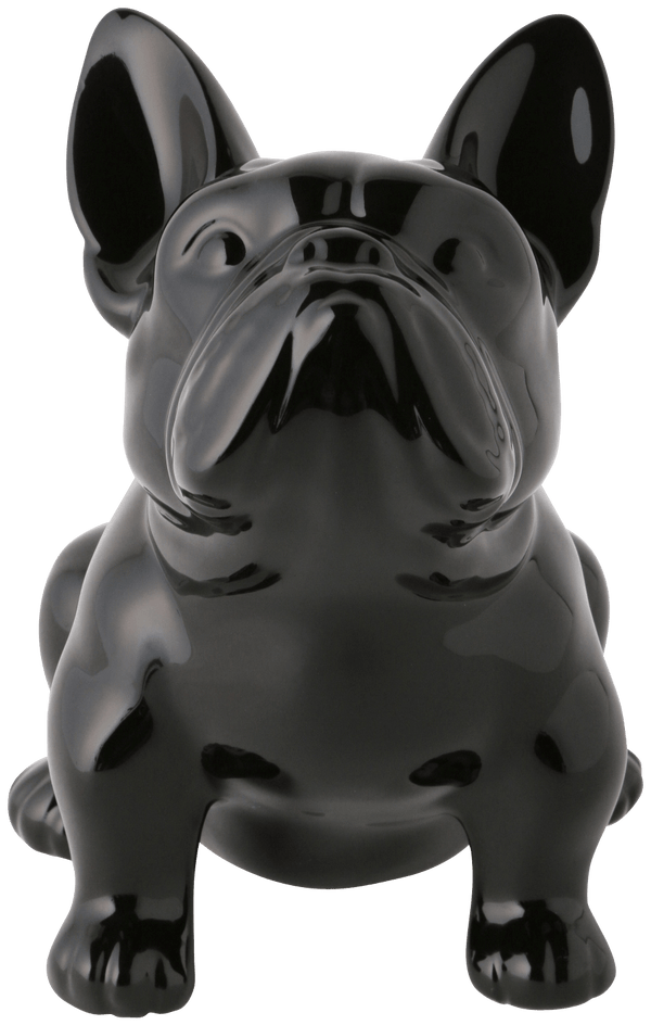HAPPY DOG Coin Bank Medium Black