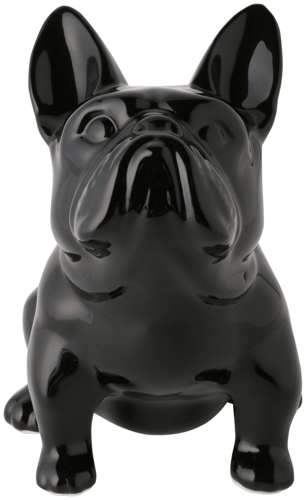 HAPPY DOG COIN BANK LARGE BLACK