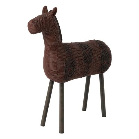 LASCA HORSE OBJECT LARGE BROWN