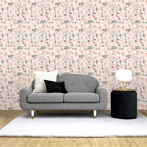 REMOVABLE WALLPAPER FLEUR ORANGE