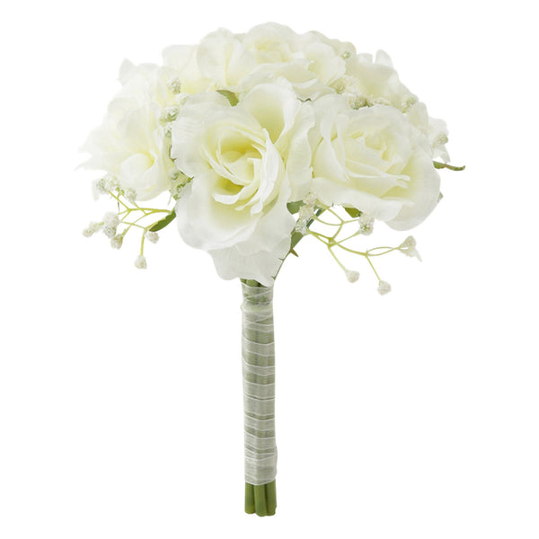 WHITE Rose Bouquet Small