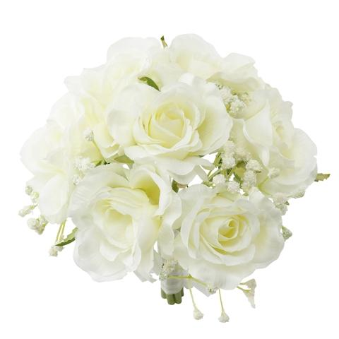 WHITE Rose Bouquet Large