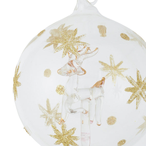 GLASS ORNAMENT REINDEER