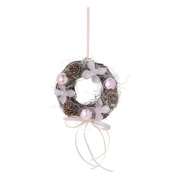 XMAS WREATH Extra small Pink