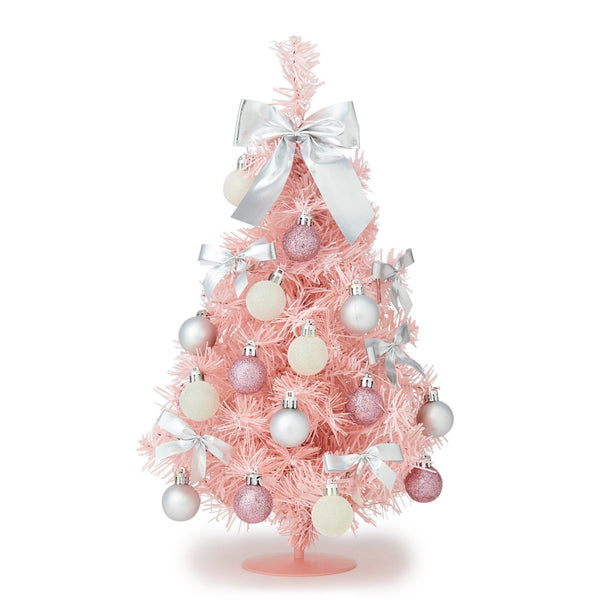 XMAS DESKTOP SET TREE Medium Pink
